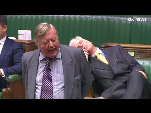 MP Desmond Swayne falls asleep in Commons during Brexit debate | ITV News