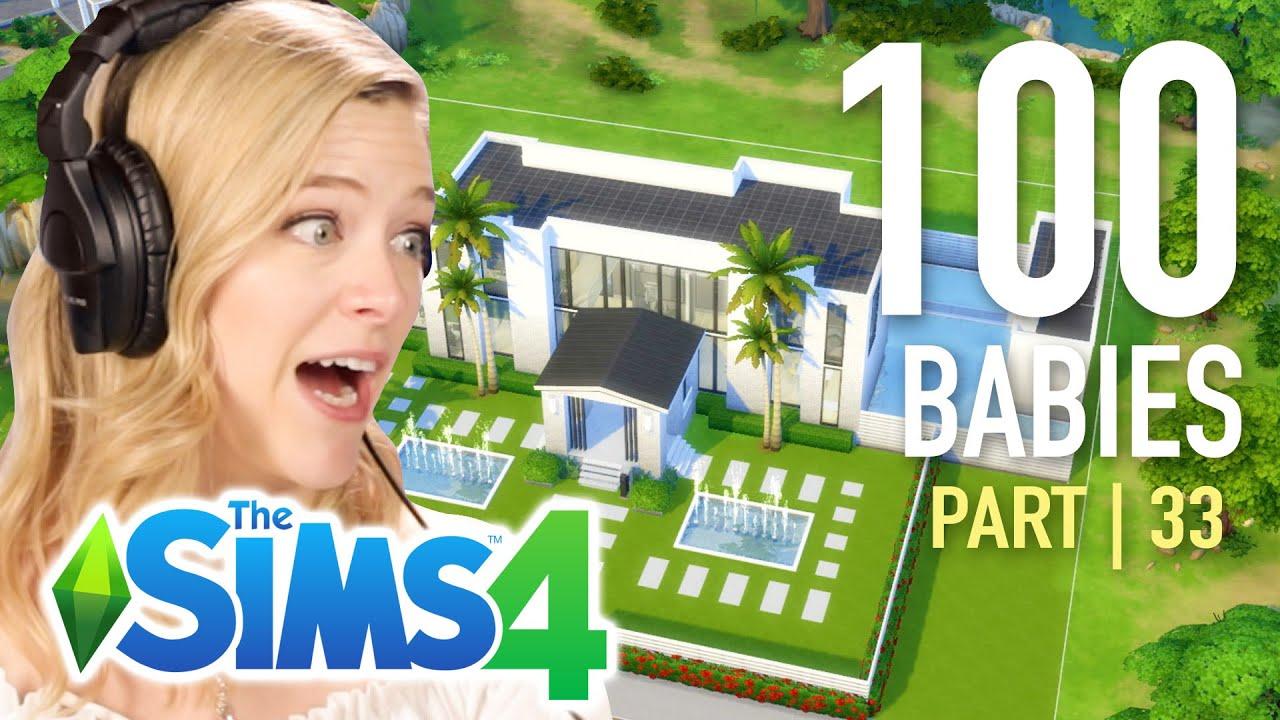 Einzelnes Mädchen wählt ein Fan-Haus für ihre Babys in den Sims 4 | Teil 33 + video