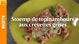 Stoemp de topinambours aux crevettes grises