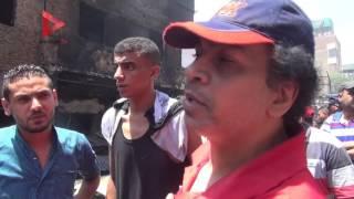 بالفيديو| أصحاب محلات سوق الفاكهة المحترق بإمبابة: