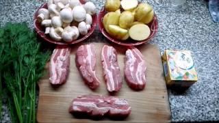 Свинина с молодым картофелем