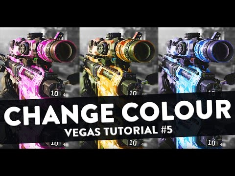 How To Change The Colour of an Object (Change Colour of Guns) - Sony Vegas Tutorial #5