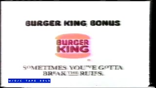 Burger King Commercial - 1989