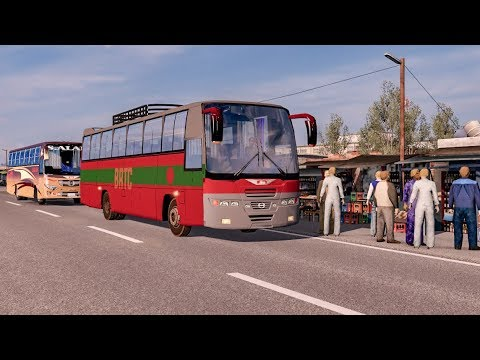 Dhaka to Netrokona on pro BD map 8.3 I BRTC Tata Lp/lpo 1512 bus I Ets2 1.36