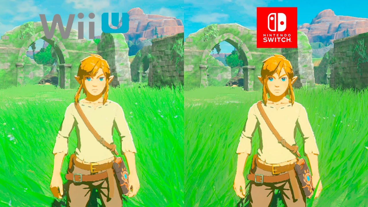 Zelda Breath of The Wild | WiiU VS Switch | 1 1 0 GRAPHICS COMPARISON |  Comparativa Final