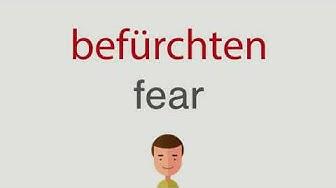 Wie heißt befürchten auf englisch