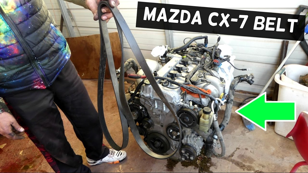mazda cx 7 2 3 serpentine belt replacement serpentine belt diagram rh youtube com 2009 mazda cx 7 engine diagram 2010 mazda cx 7 engine diagram