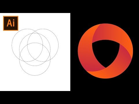 Adobe Illustrator O Logo Design.   Opera Browser Logo Design.   Simple Logo Design Tutorial.