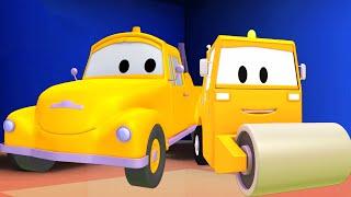 Tom la Grúa y la Apisonadora en Auto City   Autos y camiones dibujos animados para niños