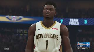 NBA 2K20 Gameplay - New Orleans Pelicans vs New York Knicks (12 Min Quarters) NBA 2K20 PS4
