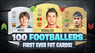 100 Footballers FIRST AND PRESENT FUT Cards! 😱🔥| FIFA 09 - FIFA 21