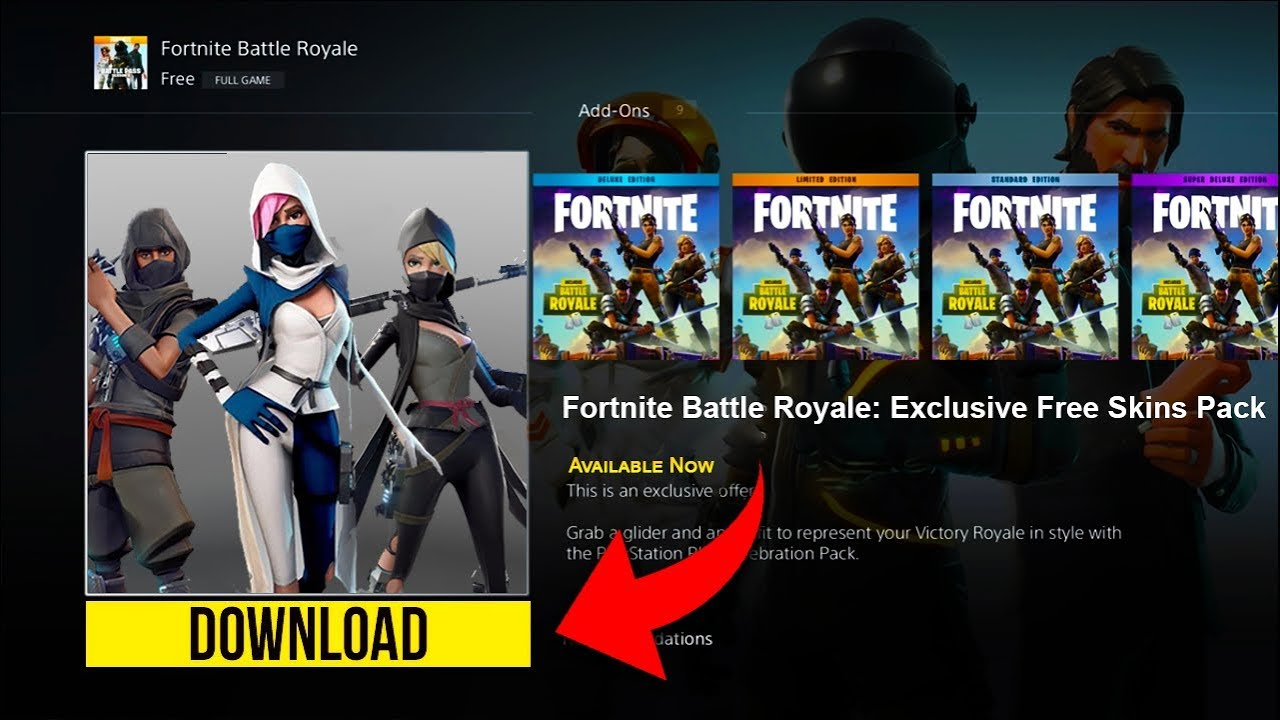 how to get free exclusive skins on fortnite free exclusive skins pack on fortnite battle royale - fortnite packs skins