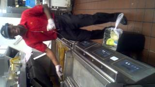 My dancing while he Flip burgers Mcdonalds style
