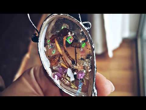 DIY Soft solder jewelry with resin and textures..
