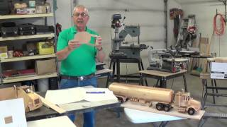 Video #2 Wooden Toy Replicas (gas Tanker)
