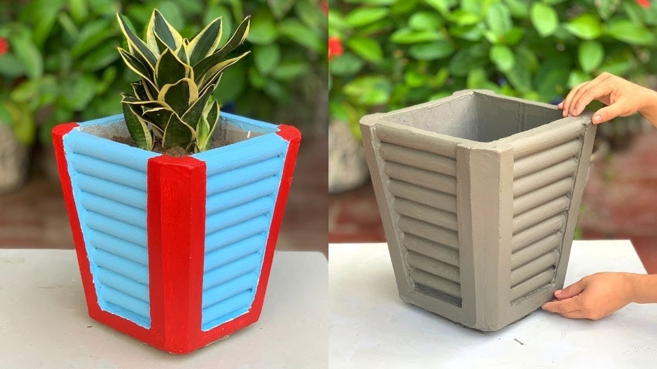 Unique Creations From Cement - DIY Beautiful Flower Pots From PVC Pipes And Cement