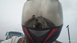 Helmet Visor view | New Angle | 2nd Hooghly Bridge | Kolkata |