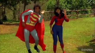 Funny moment from tu mera superman video song. handy for using as a reaction video.