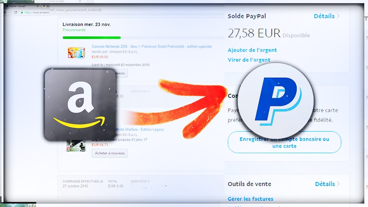 tuto fr comment payer sur amazon avec paypal. Black Bedroom Furniture Sets. Home Design Ideas