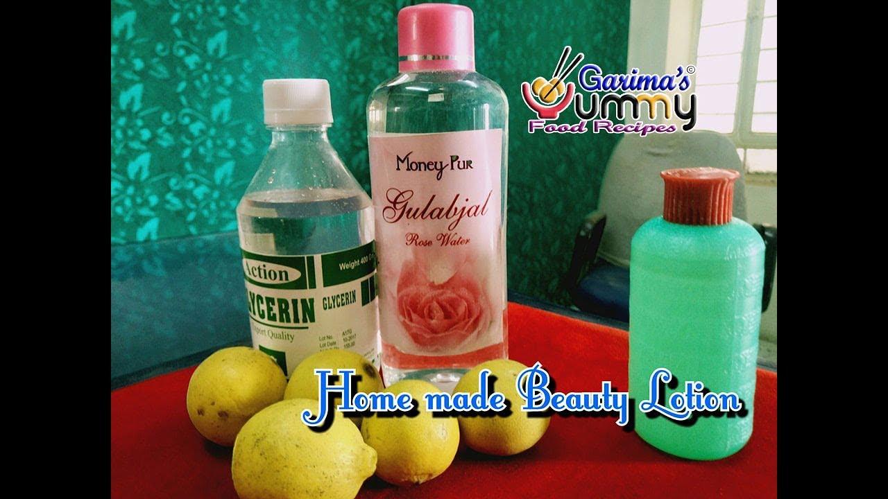 Homemade Natural Lotion using Glycerine Rose water - ग्लिसरीन में यह मिलाकर  लगाए - Home Remedies