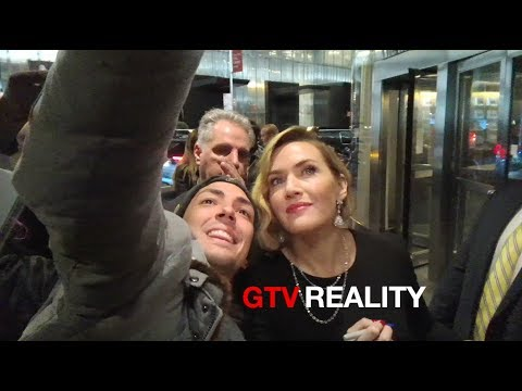 Kate Winslet with fans on GTV Reality