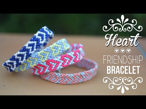 DIY,TUTO  BRACELET BRESILIEN COEUR ,Saint,Valentin Heart friendship  bracelets (english subs)