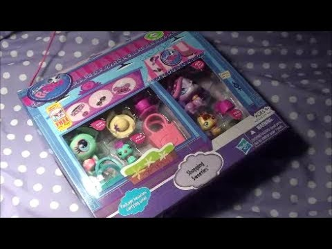 BRAND NEW LPS for CHRISTMAS Shopping Sweeties littlest pet shop Christmas toy review