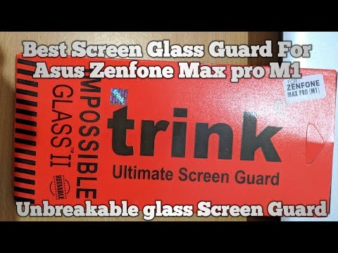 Asus Zenfone Max Pro Trink impossible Glass 2    Perfect Tempered Glass!