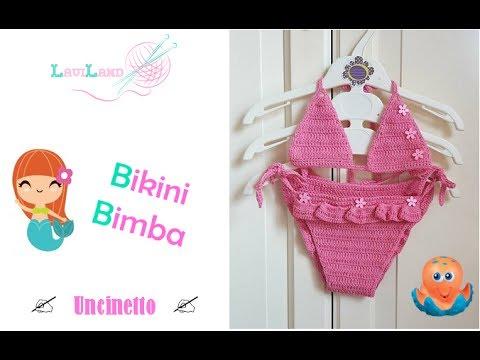 Bikini Bimba Uncinetto Baby Bikini Crochet Youtube