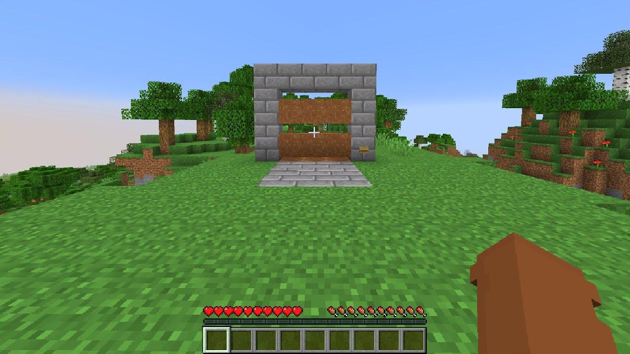 Minecraft 3x3 PISTON Hipster Door