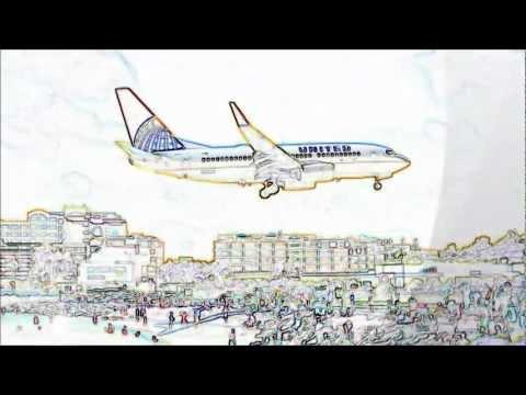 Dibujando Aviones Part 5.(St.Maarten) - YouTube