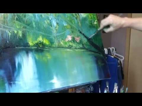 Wasser malen. Landschaft malen. Bäume malen. Malstunde mit Tatiana Siekmann