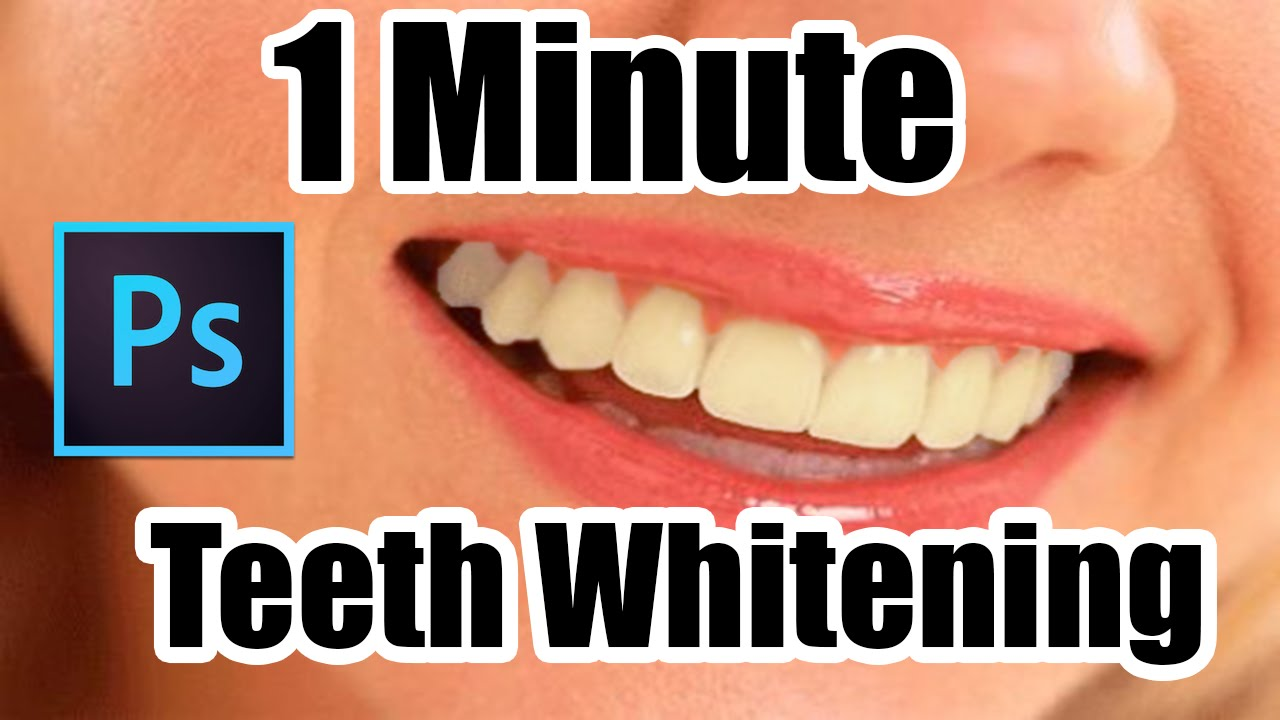 How To Whiten Teeth In Photoshop Cc Fast Tutorial Youtube