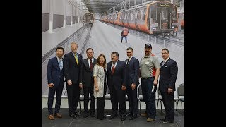 Gov. Baker, officials, tour CRRC MA facility in Springfield