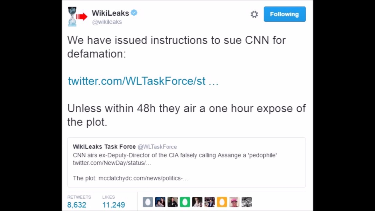 Wikileaks threatens cnn over fake news cnn is forced to wikileaks threatens cnn over fake news cnn is forced to apologize ccuart Choice Image