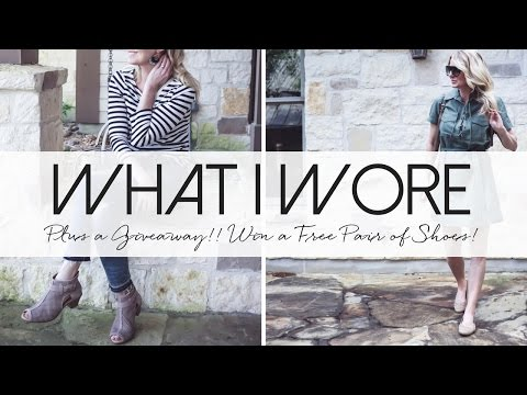 What I Wore | Plus Win a Free Pair of Shoes!