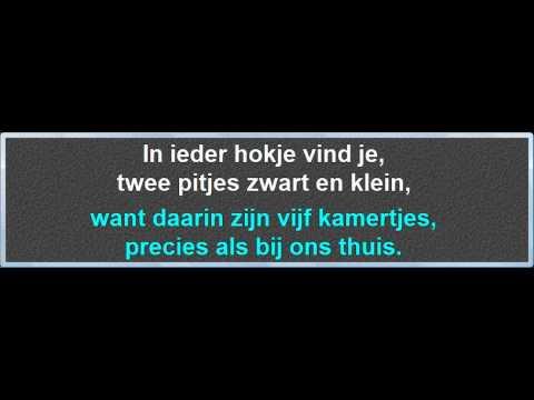 In Iedere Kleine Appel, instrumentaal met karaoke tekst