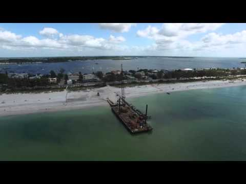 Bradenton Beach area by drone in 4K