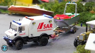 MICRO RC BOAT LAUNCH IN 1:87 SCALE - INCREDIBLE!!!