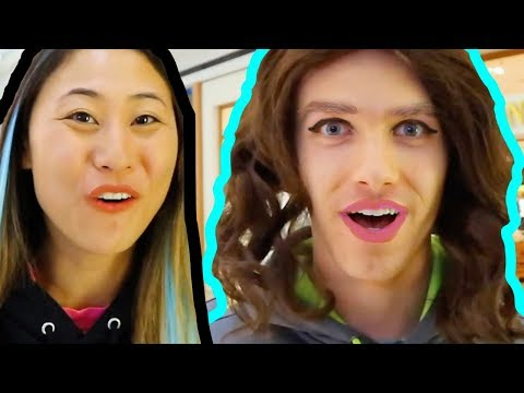 TRANSFORMING MY BROTHER INTO ME!! DIY Makeover on Stephen Sharer, Hairstyle Hacks