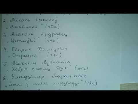 Список литературы на лето по белорусской литературе к 5 классу