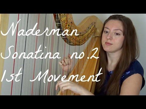 Naderman - Sonatina II (i) Allegro Maestoso // Harpist   Angelina Warburton