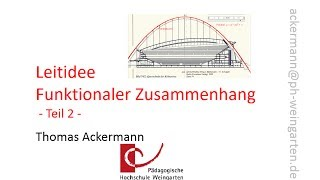 Leitidee Funktionaler Zusammenhang - Teil 2