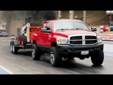 1/8 Mile Trailer Tow and Obstacle Course - Day 2 of Diesel Power Challenge 2013!