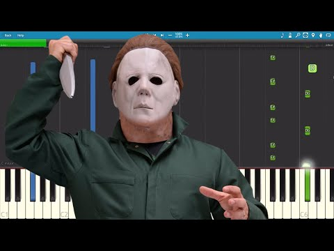 how to play the halloween theme easy slow piano tutorial