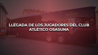 Llegada de Osasuna al estadio Nuevo Los Pajaritos de Soria
