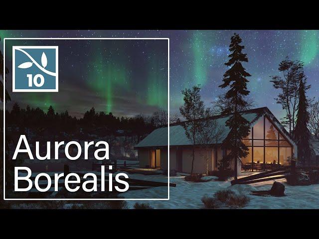 Lumion 10: Aurora Borealis & Real Skies at Night