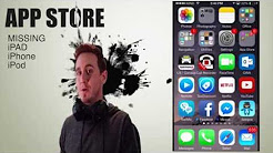 Missing App Store, FaceTime, iTunes iCon iPhone iPad iPod