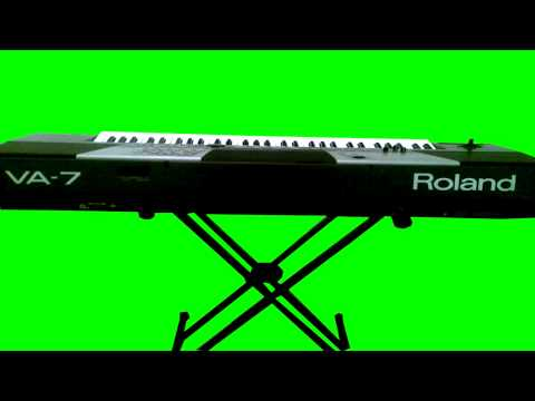 organ keyboard real green screen thumbnail