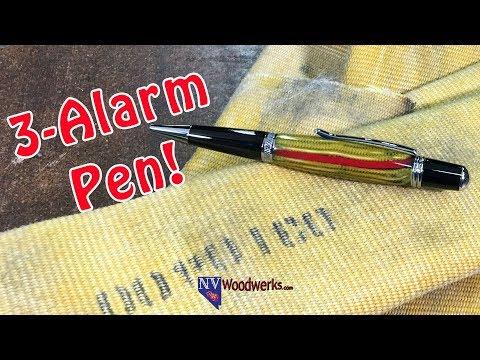 Resin Cast Micarta Firehose Pen | Dunkin Junk